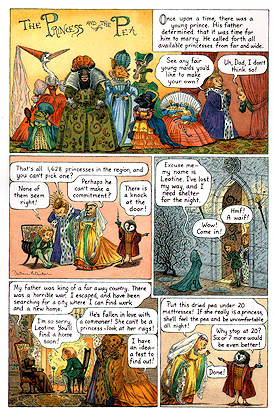 The Princess and the Pea in Lil'Lit Folklore and Fairytale Funnies, 2000