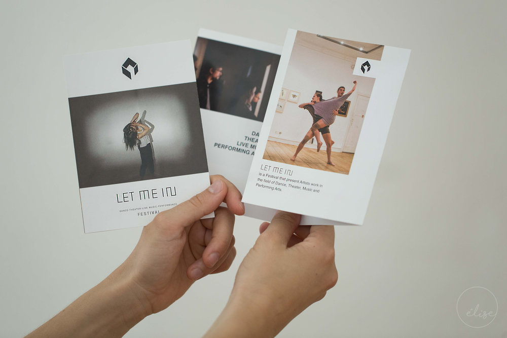 Flyer for the Let Me In, Berlin Performance Festival