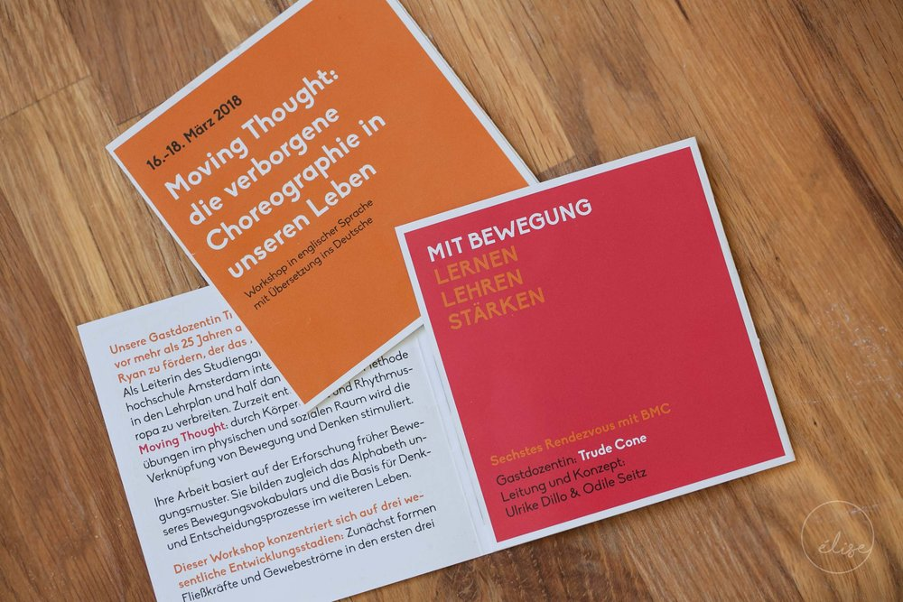 Flyers for a Body-Mind Centering Workshop