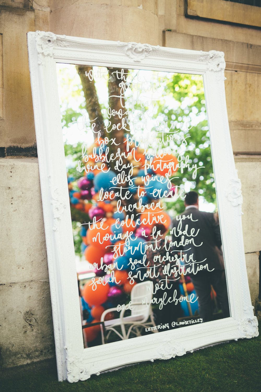 Louie Tilley - The Wedding Gallery Soirée - Lettered Mirror