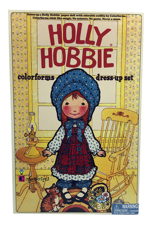 holly hobbie colorforms dress-up set