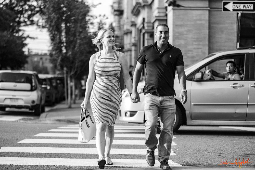 loving fiance couple
