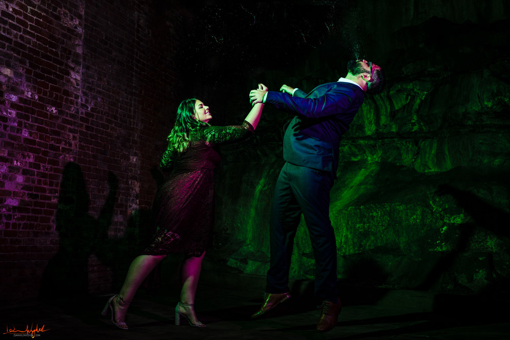 super hero engagement photography