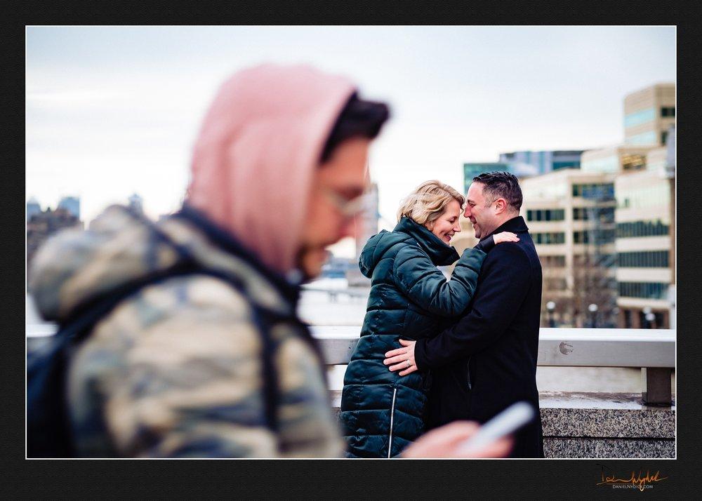 candid, couple, love, london tower bridge