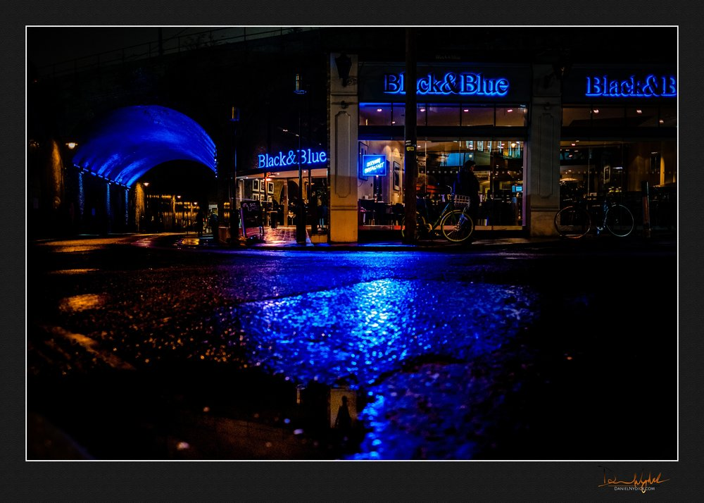 black and blue, dark, night time, landscape, architecture