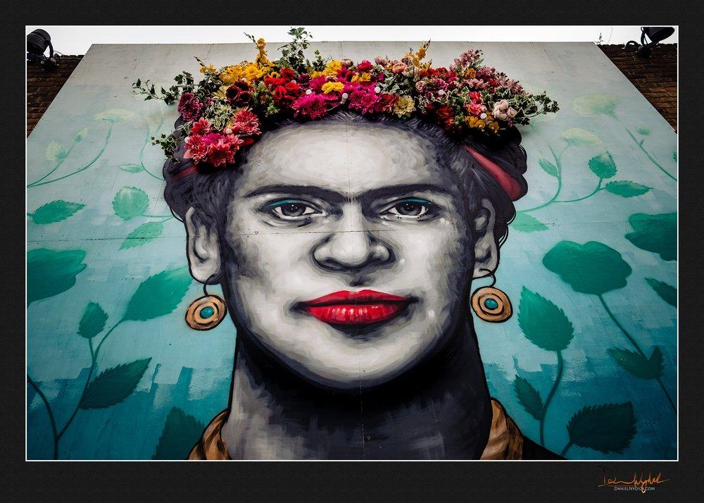 frida kahlo, zabou, Eccleston Yards, wild tart, painting, mural,