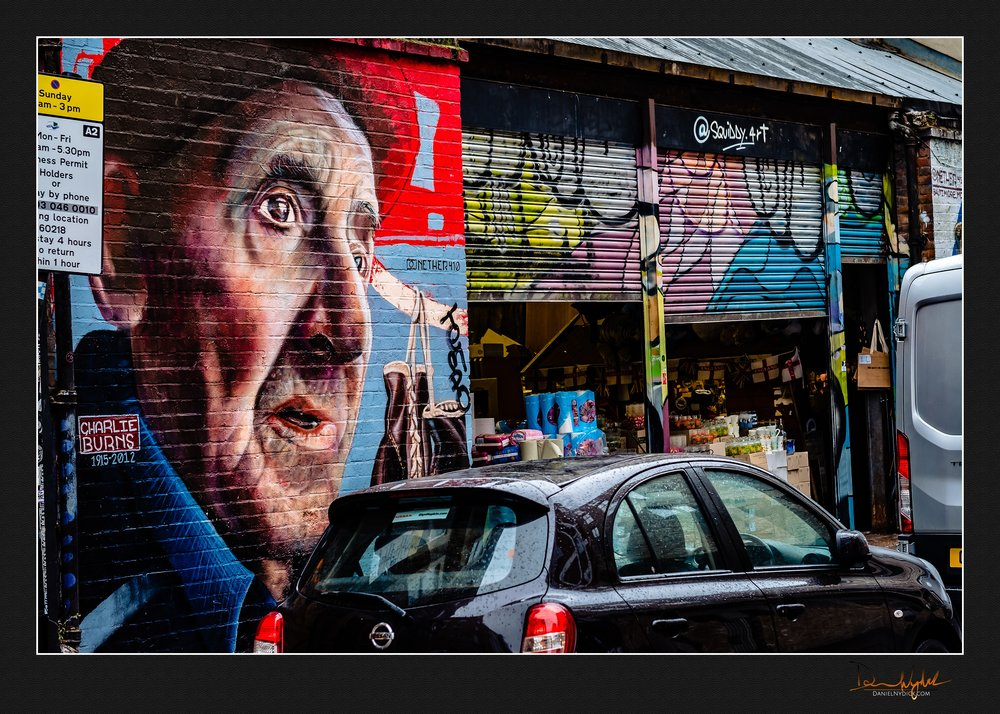 mural, london, street, brick lane