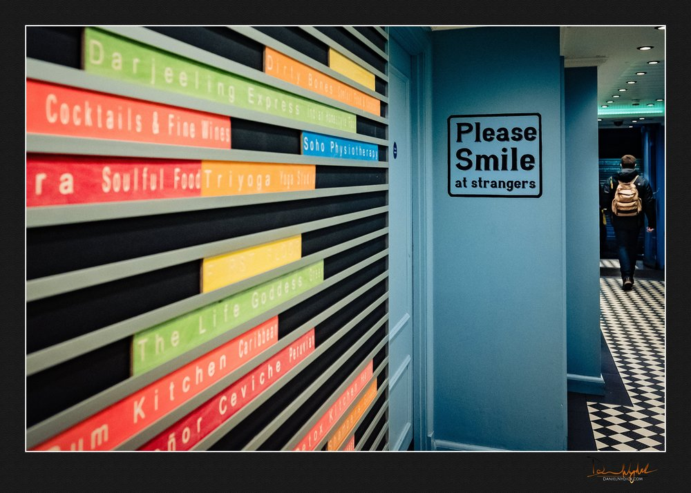 please smile at strangers, carnaby