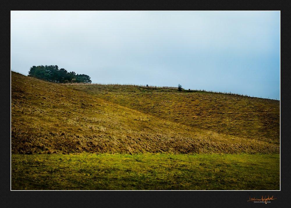 rolling hill landscape, england