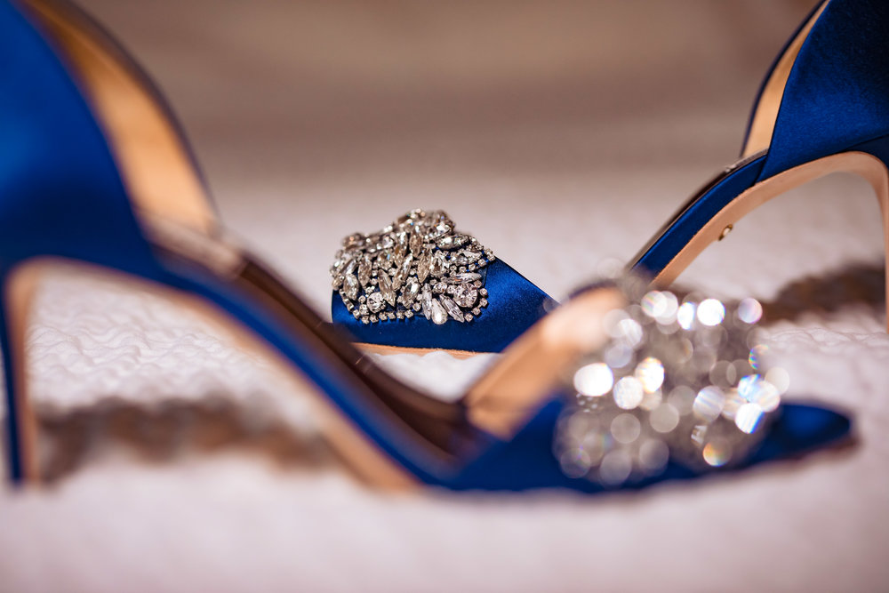 wedding shoes, detail shot, bride