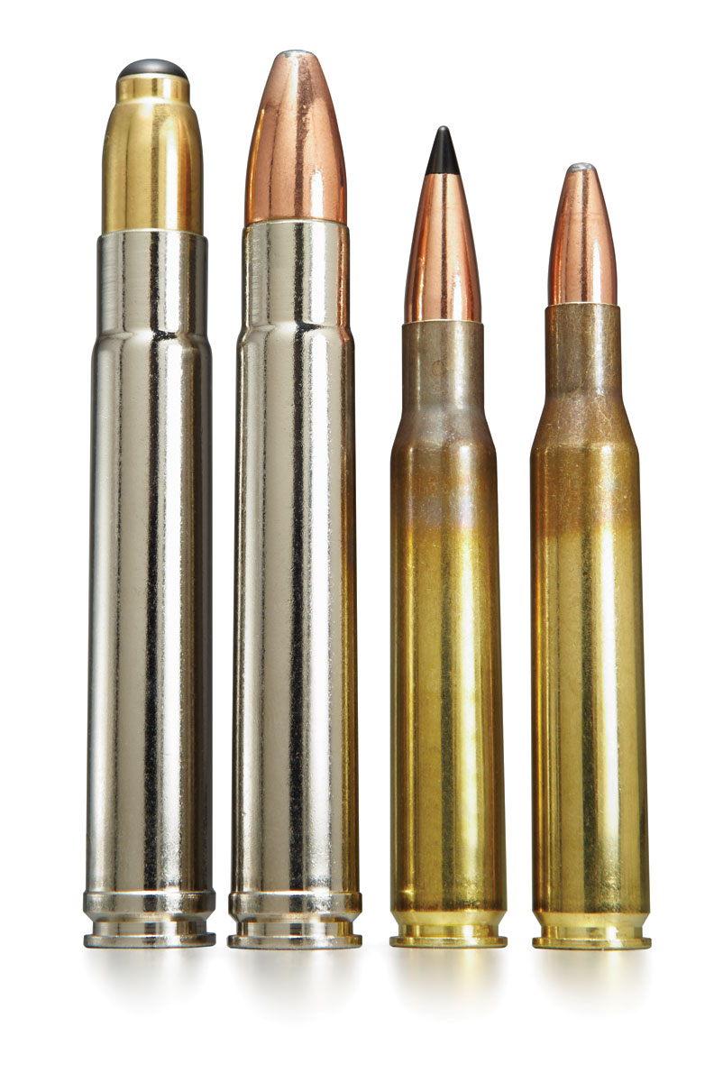 Swift High Grade ammo is of course designed around Swift Bullets. In the Dangerous Game line, left, both Breakaway Solids and A-Frames are offered. In the Medium/Big Game line both Sciroccos and A-Frames are offered in most cartridges.