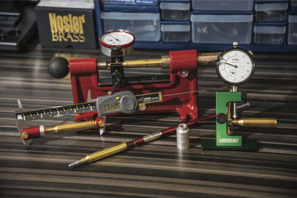 "There are a lot of dimensions to keep track of when you're ""blueprinting"" your cartridges. A high-quality caliper is a good initial investment that will pair perfectly with an assortment of measuring tools from Hornady's Lock-N-Load collection to help you adjust your dies perfectly."