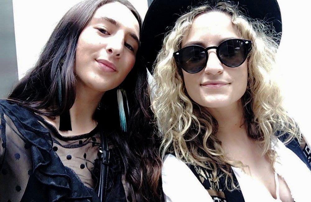 (Sarah and Alexis.)