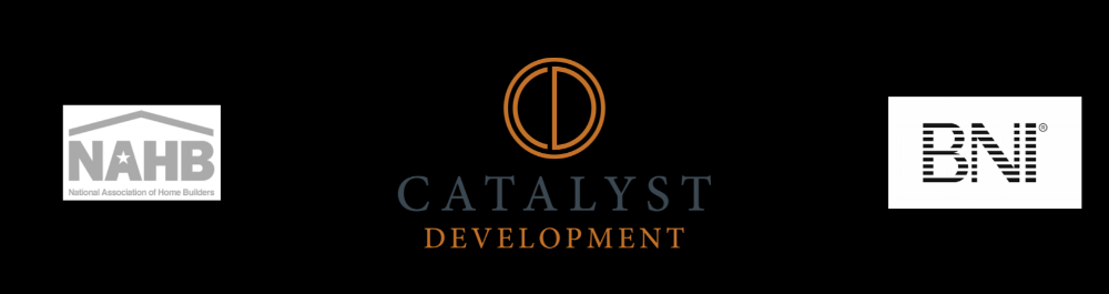 Catalyst Development Logo, NAHB logo and BNI logo