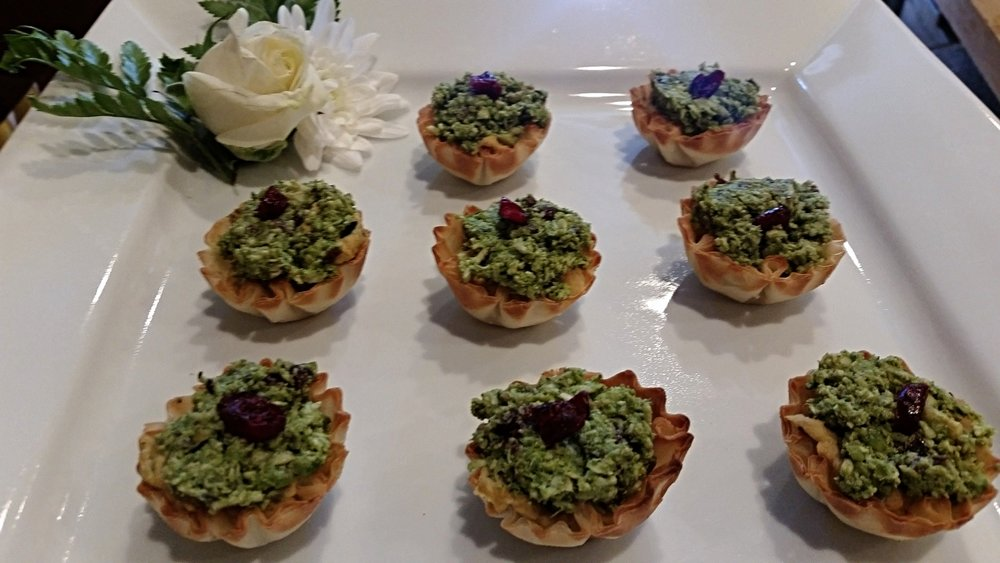Chicken Pesto Baskets