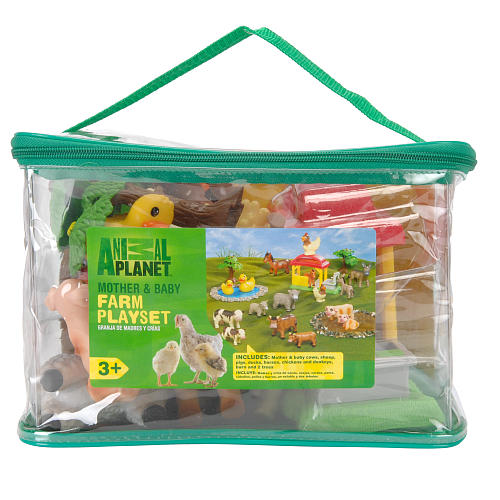 Farm Animal Playset Washable farm animals - set of 16 in carrying case