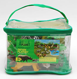 Wild Animal Playset Washable wild animals - set of 16 in carrying case