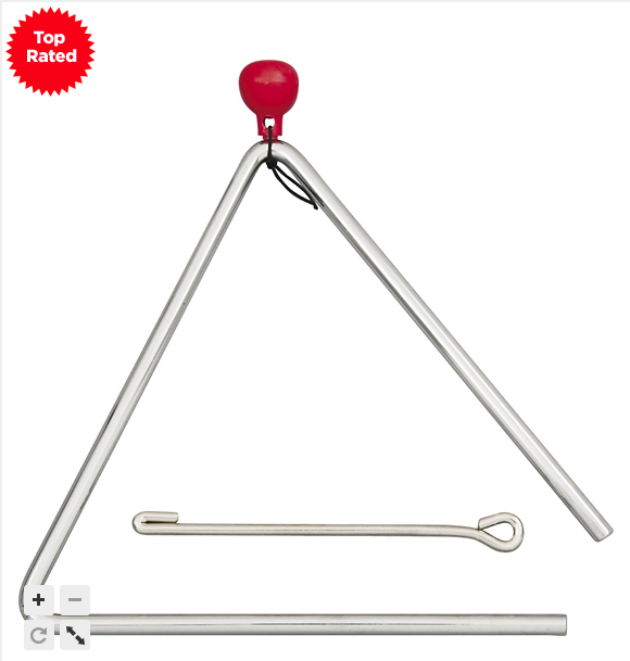 "Steel Triangles We recommend the 4"" size"
