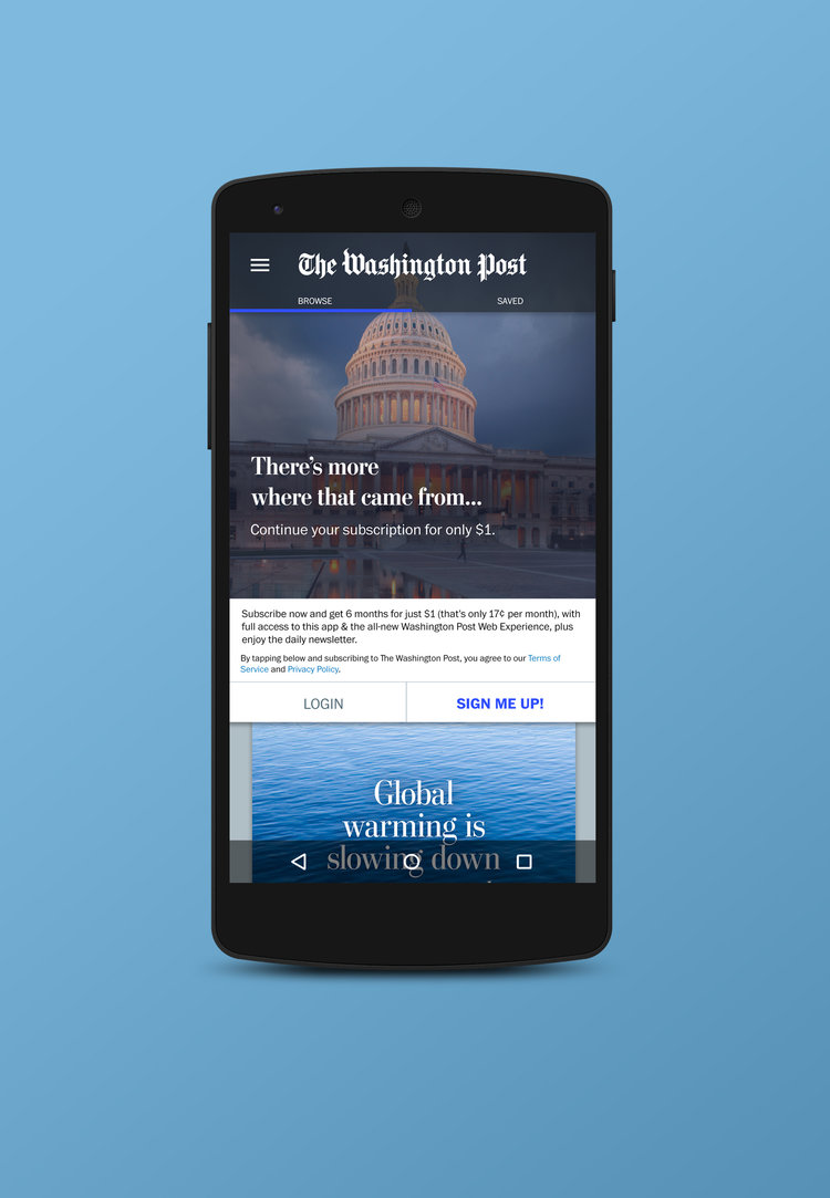 The Washington Post National News Android App Laura The Designer - Android app privacy policy template
