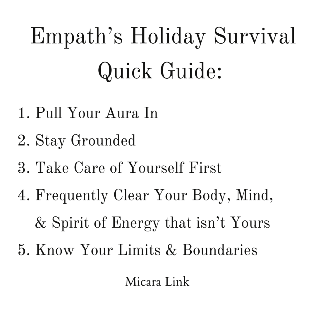 Empath's Holiday Survival Quick Guide: 5 Strategies to