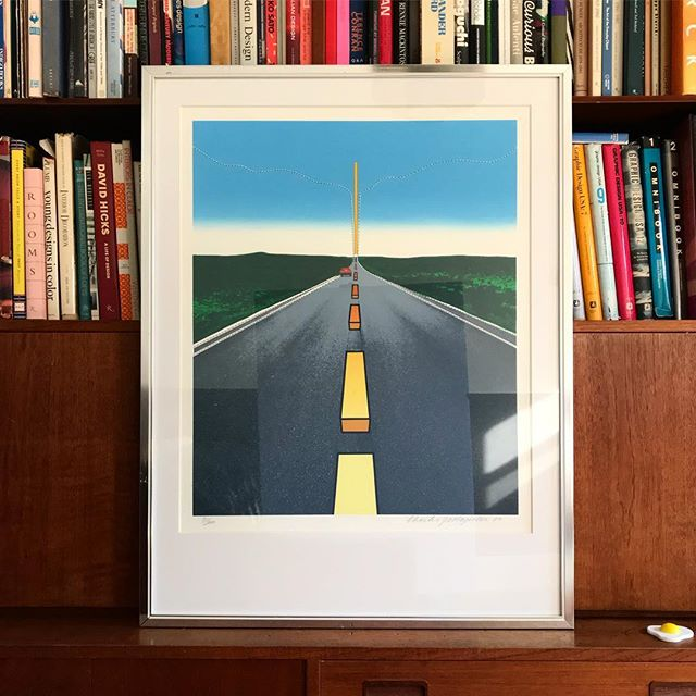 Our pleasure / your treasure! NEW 4 U! #CharlesMagistro 'Great American Landscape' lithograph circa 1980! 🚘🚘 In the fast lane! See ya 2017! #ODDEYENYC