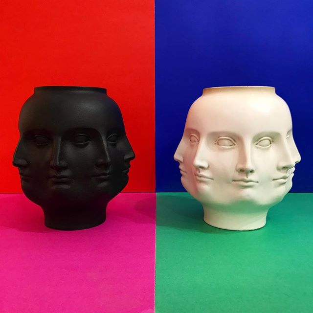 NEW 4 U! Perpetual face vase in the manner of #Fornasetti ! It's a double header! #ODDEYENYC