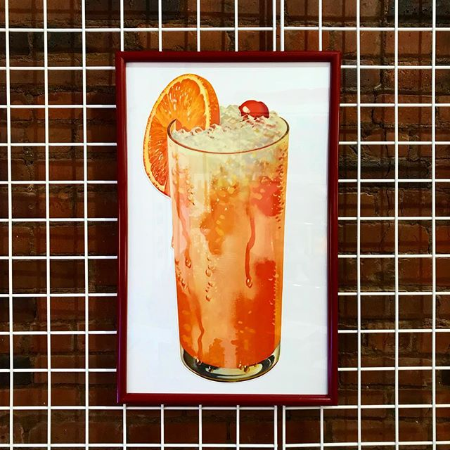 NEW 4 U! #Fiorucci vibes via 1950s oversized advertising art! A taste sensation! Quench your thirst @ #ODDEYENYC 🍹🍹