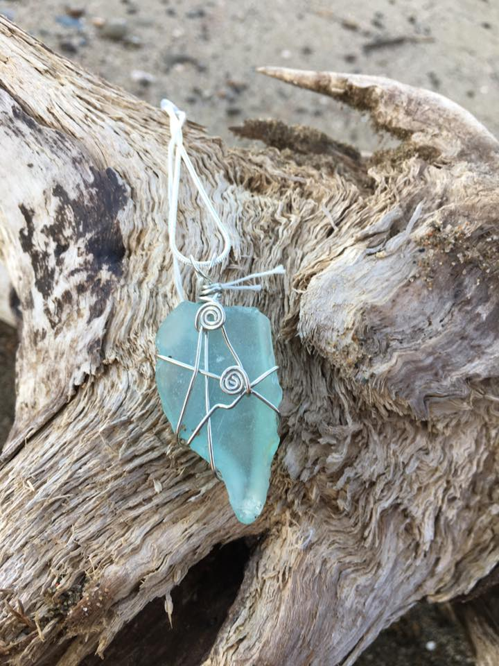 For Someone Away  - Tidal Treasures handcrafts jewelry with beach glass found on the shores of the Miramichi. These make perfect gifts for people living away, easy to mail and they can always have a little piece of home with them!