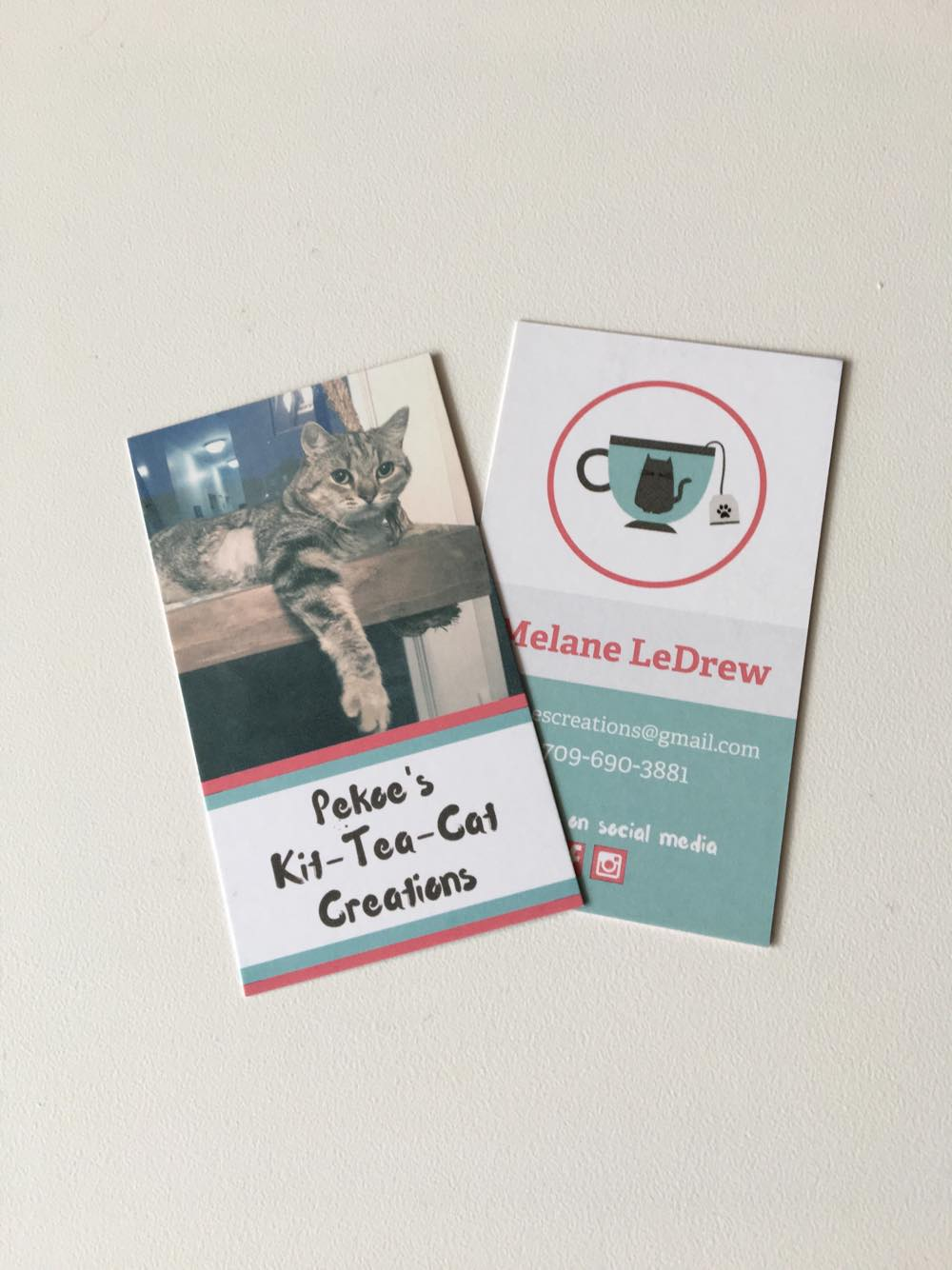 Pekoe's Kit-Tea-Cat Creations Business Card