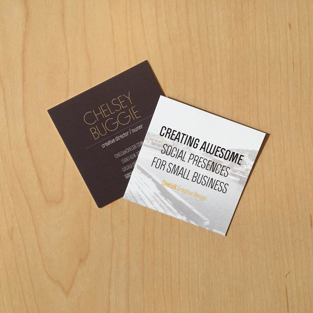ChelsB Creative Design Business Card