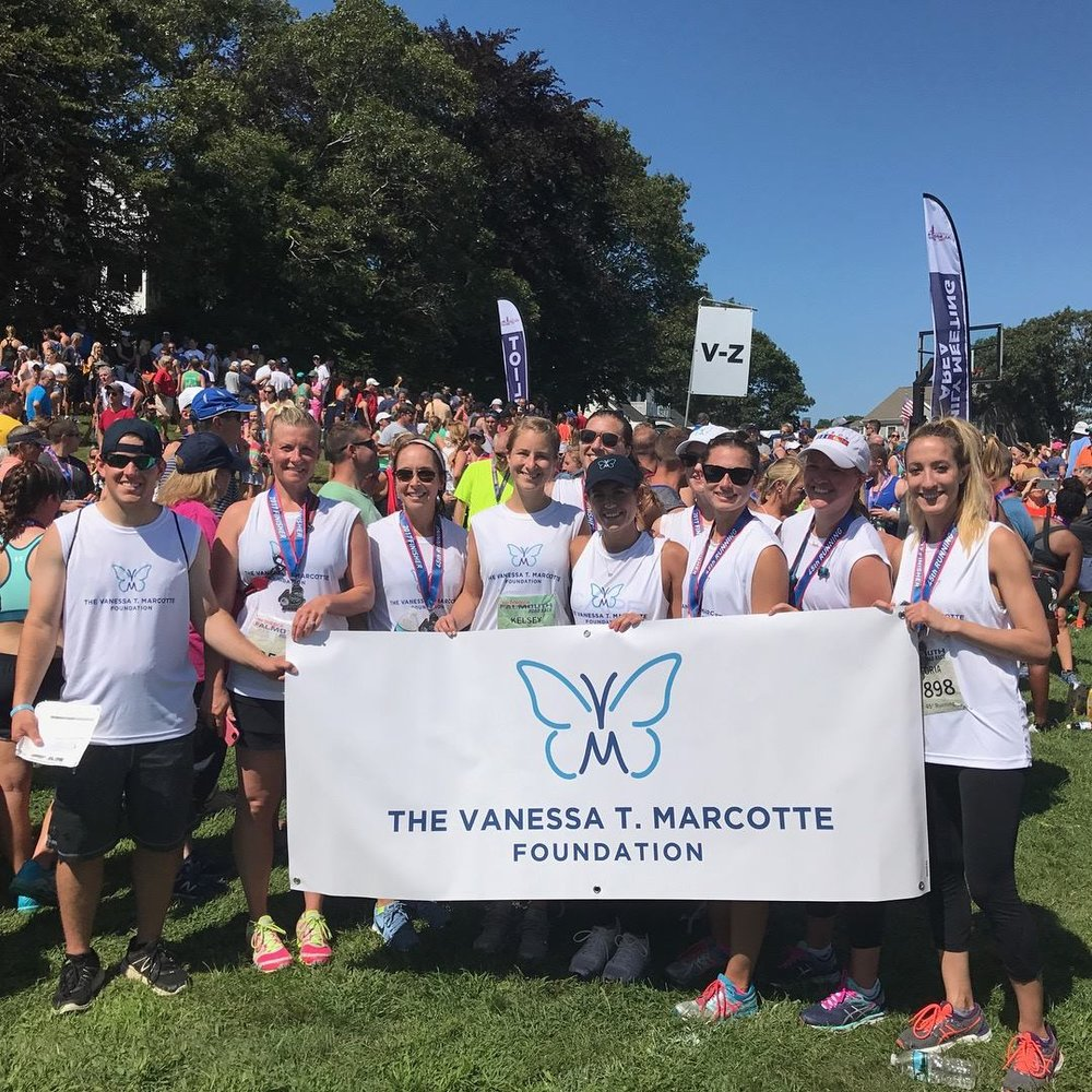 The VTM Foundation Falmouth Road Race Team, August 2017