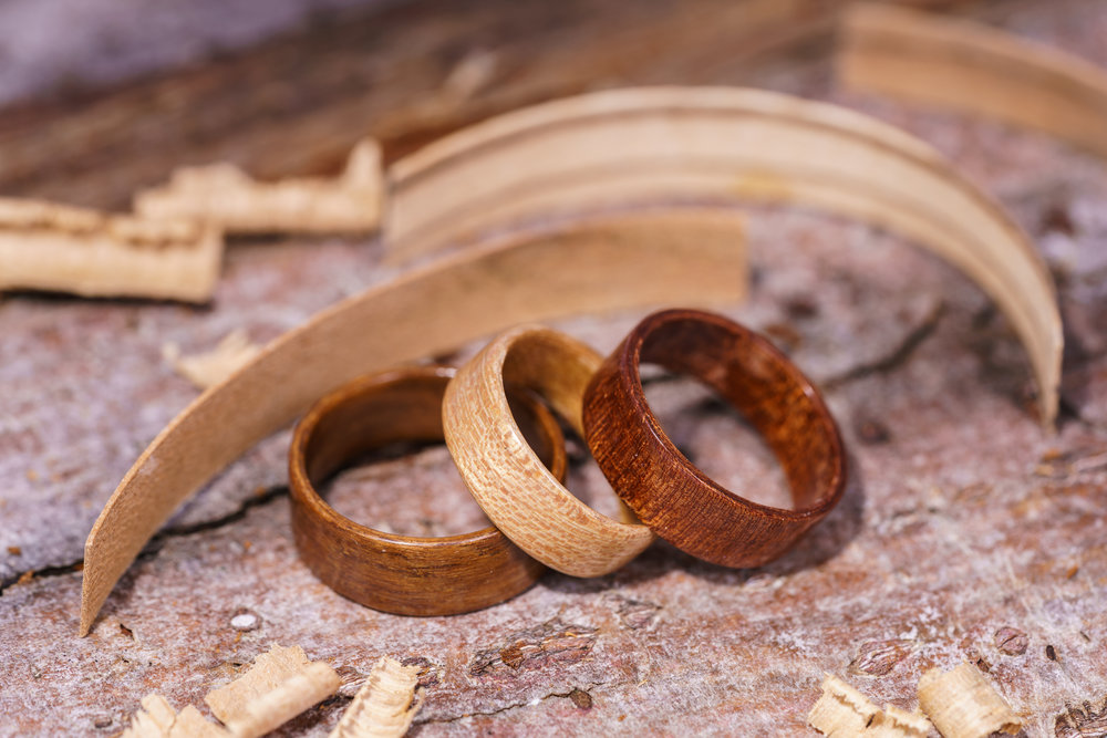 About our rings - We make our rings using the bentwood method (for more info click here). It is a lengthy process and even the most basic ring can take up to two weeks to create. This method produces the strongest possible rings.If cared for properly they will last a lifetime.They are lightweight, durable, waterproof and certainly stand out from the crowd as something different and unique. They make great alternative jewellery and you can be assured that due to the nature of the wood, no two rings are the same.Our rings are also ideal for people with a metal allergy.They are available in all sizes and we are happy to post worldwide - let us add you to our map!See our current collection here available to order today, or if you would like to know more please get in touch.
