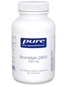 Bromelain 2400 - Enhances digestion and maintains healthy musculoskeletal tissue. Bromelain is a proteolytic enzyme from the stem of the pineapple plant. Taken with food, bromelain aids in the healthy functioning of the digestive system. Taken between meals, bromelain maintains healthy kinin and fibrin production, supporting healthy musculoskeletal function. Bromelain 2400 nutritionally supports the body's innate ability to digest food and to maintain musculoskeletal comfort at the cellular level.