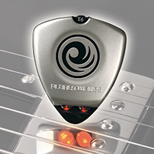 D'DARIO     GUITAR TUNER   A tuner the size of a guitar pick with timing lights.