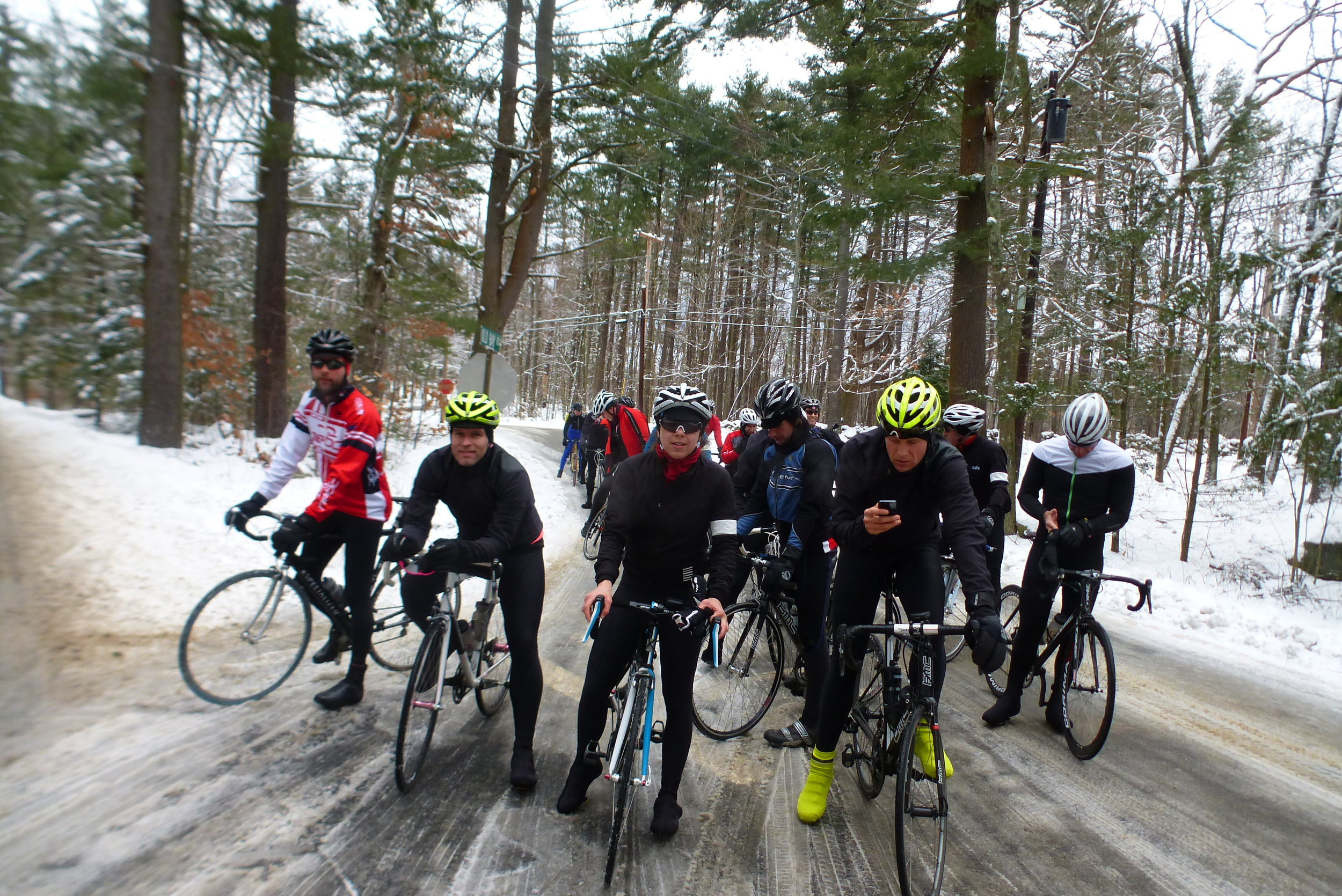 Saturday big group ride with Rapha's Rich Bravo & Derrick Lewis - Photo by Neil McInnis