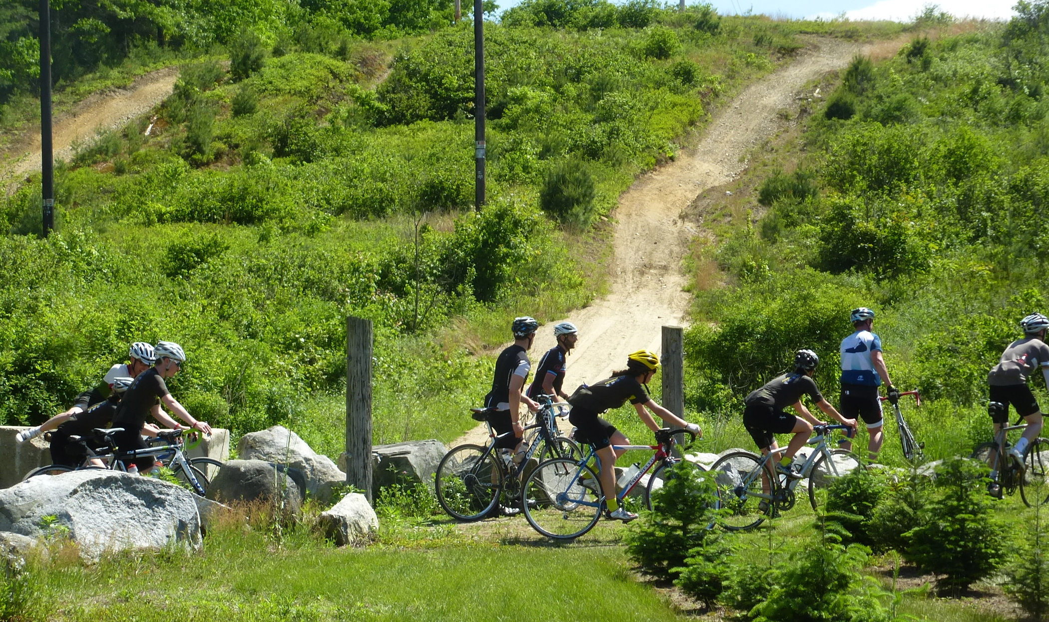 Riders on the 111 mile version of the Pioneer Ride get to experience some fun dirt sections.