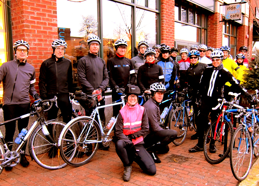 Rapha Festive 500 pre-snow ride