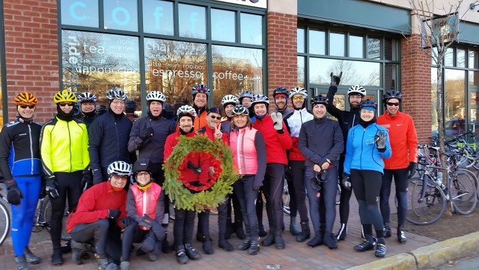 Henry regularly leads a Holiday Ride Series for the Studio and logs many miles in all temperatures and conditions.