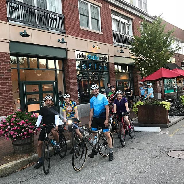Our 7:30pm Mixed Terrain Night Ride is ON for tonight! Bring lights and your sense of adventure, it's finally getting perfectly dark before the ride is over. This is a picture of those who came out last week for it. Note: if you haven't done a Mixed Terrain ride with us before, please come out to the 9:30am Sunday Mixed Terrain ride to get a good feel for the type of riding, understanding the various paces, etc - then come out for this night ride. See you tonight! #mixedterrain #nightride #somucheveningfun