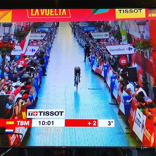 Hola, everyone! La Vuelta a Espana is here, and we couldn't be more excited! We'll be streaming the race live on our tv today through Sept. 16. Order your favorite beverage, hang out for a bit, and watch the third and final grand tour of the year. #vueltaaespaña #cycling #cyclingcafe