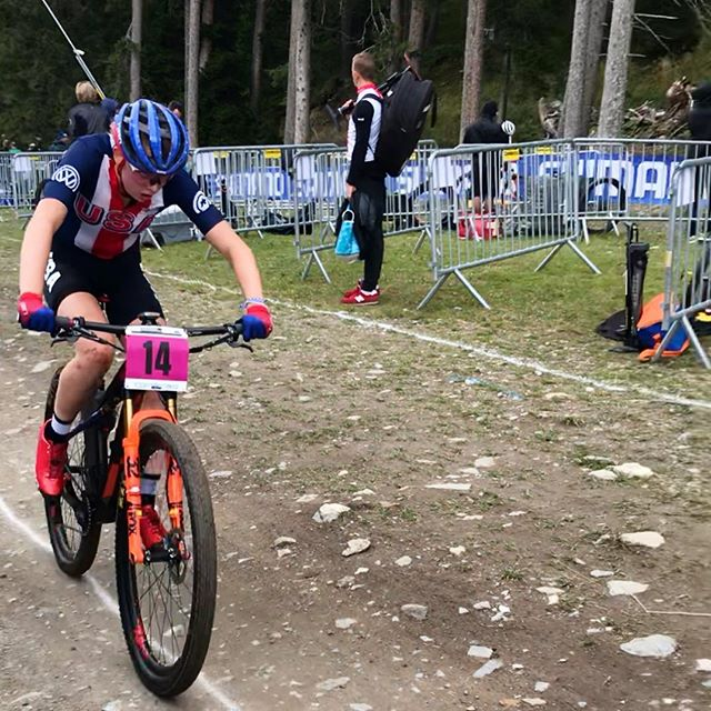 This weekend is the UCI World Mountain Bike Championships in Lenzerheide, Switzerland. We're posting images and videos of the weekend at the @rideheadquarters feed, go there for much more cool mountain bike action! Here is USA's Haley Batten flying the stars and stripes in the U23 women's competition. Go Team USA! #lenzerheide2018 #mountainbike #uciworldchampionships