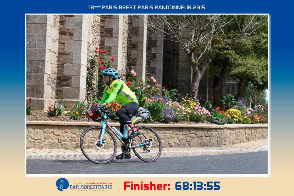 Jan K. finished PBP in 2015 aboard the bike we worked with him and Seven Cycles to create. He supplied us with this image from his strong ride. This rider lives in Puerto Rico. We've worked with riders from all over the U.S. and world including California, New Jersey, Rhode Island, Vermont, Canada, Australia, Europe, and Ireland.