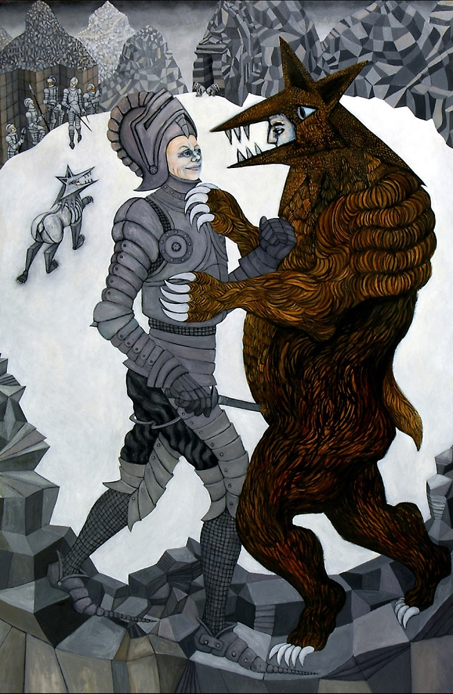 Bearsuit, 6 ft x 4 ft, 182.88 cm x 121.92 cm, oil on canvas.