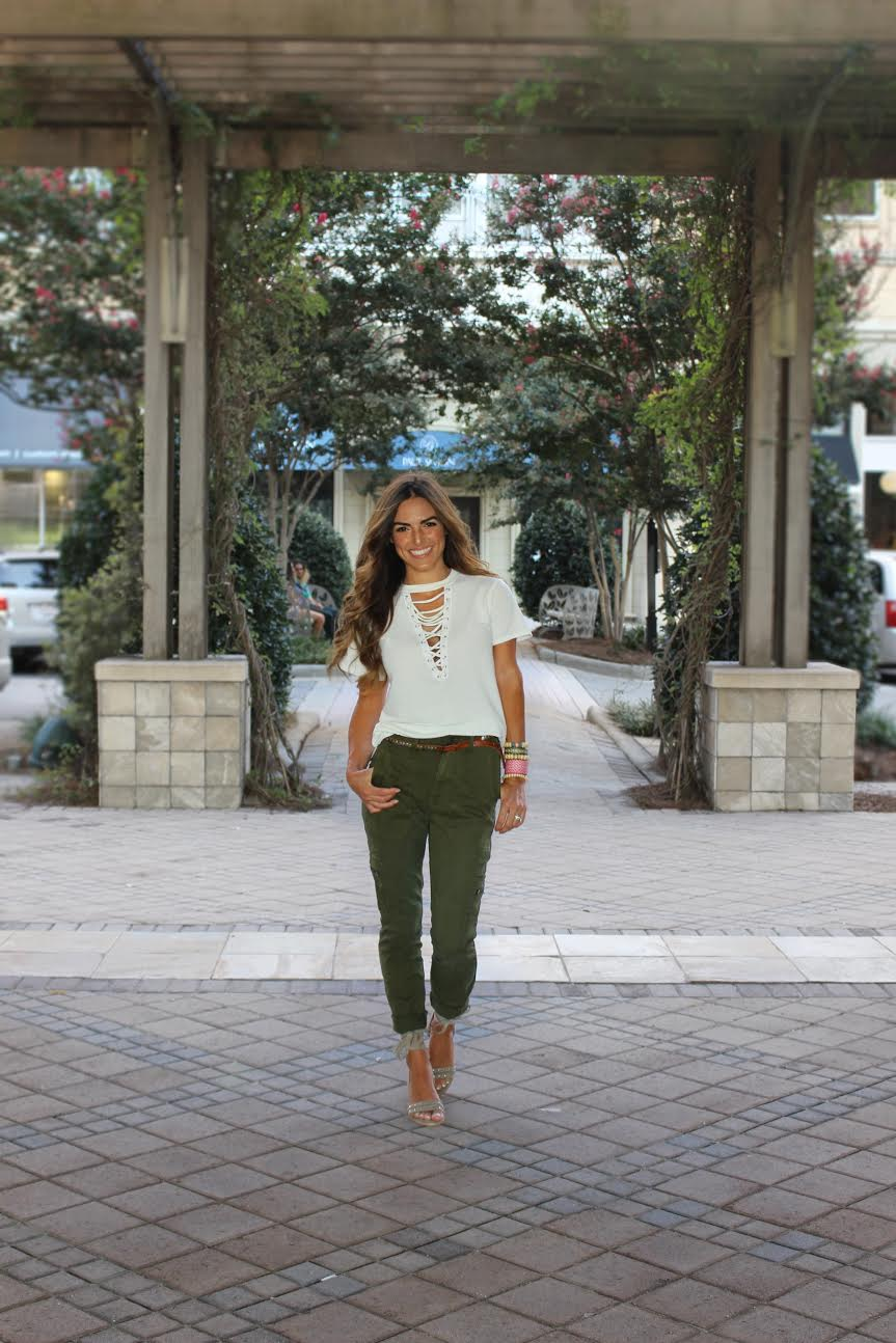 "Top Vestique $10 (Similar  here  $14 and  here  $37 |  Pants GAP $29  (Similar  here  $19) | Shoes Vestique ""Saturday Stroll Sandals"" $20 (a few still available online, call stores for more sizes to have them shipped to you!)"