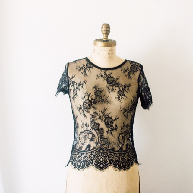 I'm pretty much in love with these lace tops that have been added! Available in black and white. #styled #lace #adornedrentals