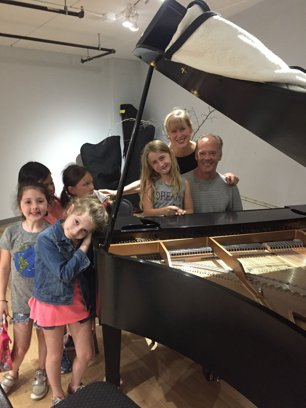 TheaterClass 4 Kids! working with world class pianist Chuck Lamb and Warner Chappell Singer Songwriter Ria Curley!