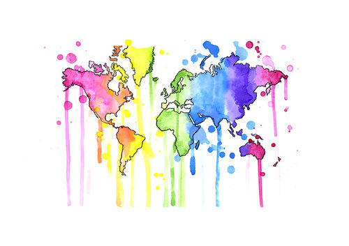 World map art print world map art print gumiabroncs Choice Image