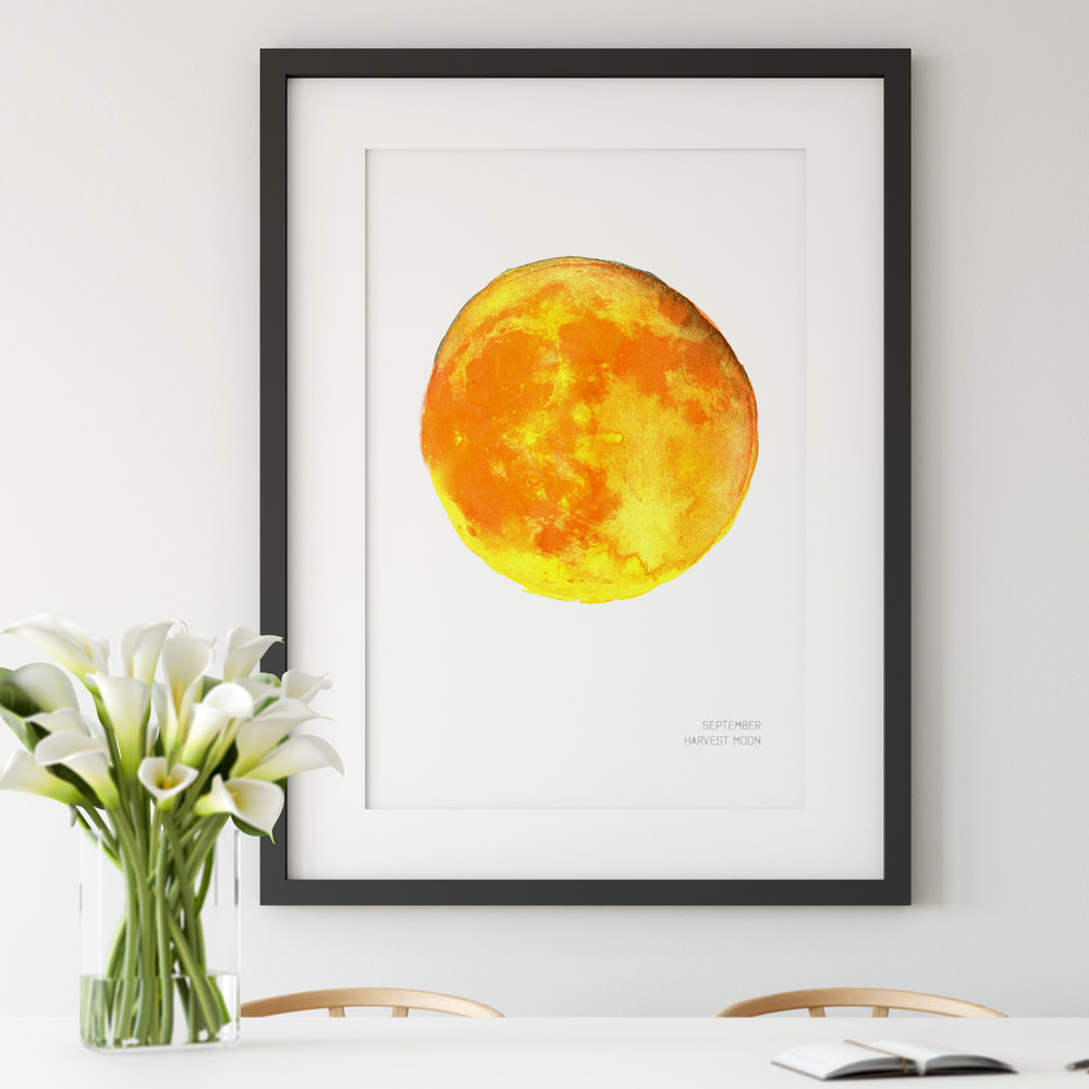 September Harvest Moon Art Print poster Drawn Together art Collective.jpg