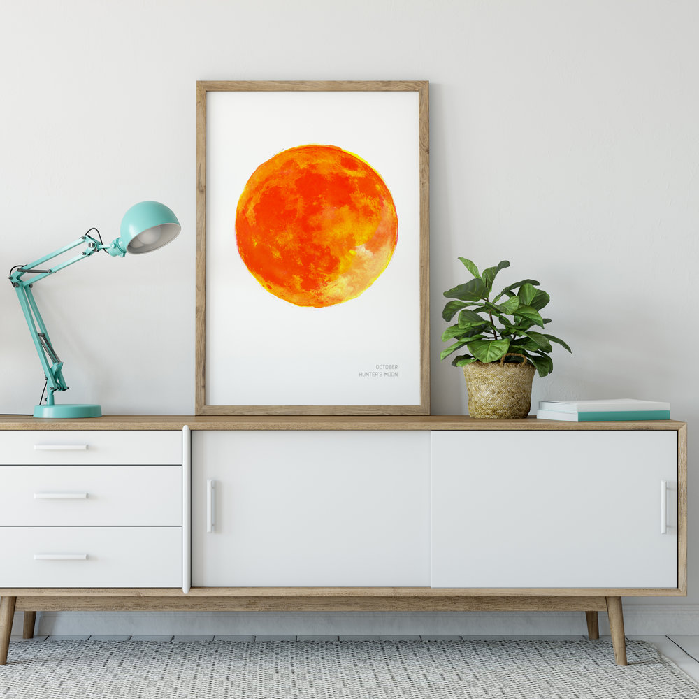October Hunters Moon Art Print poster Drawn Together art Collective.jpg