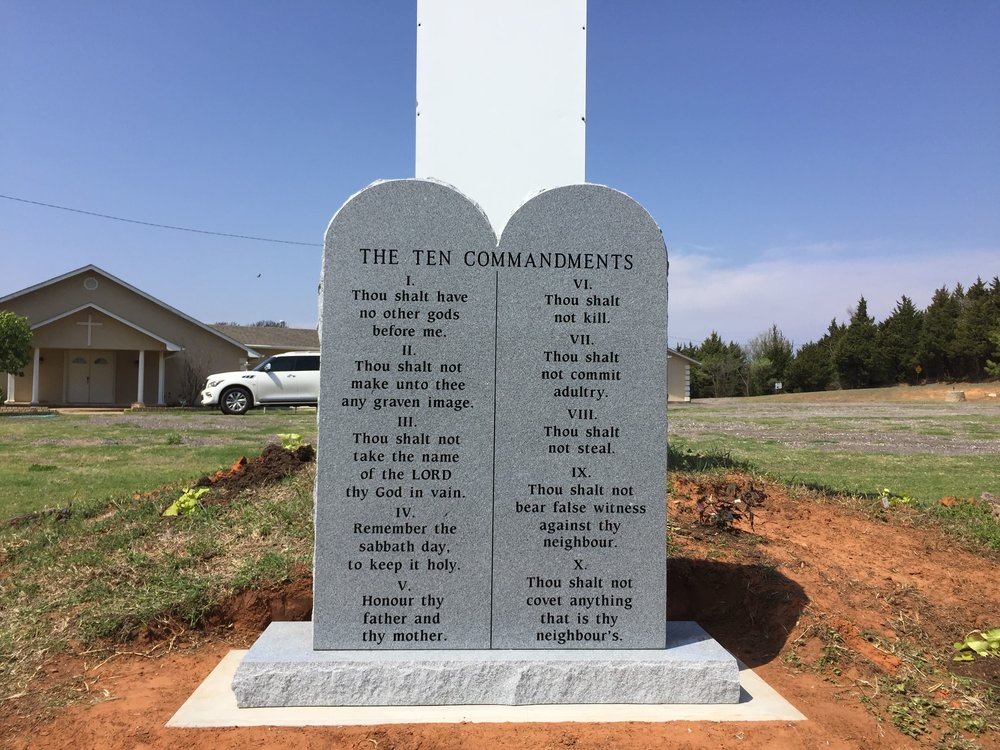 10 Commandments - Successful Word Church - Warwick, OK - Granite Sign.jpg